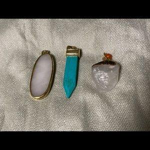 Jewelry - 3 Stone Pendants for Necklaces